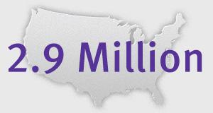 2.9 million