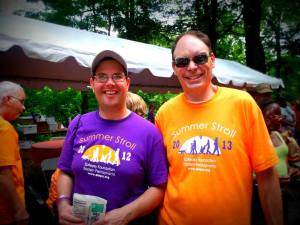 Dan (left) with fellow Summer Stroller Mike!