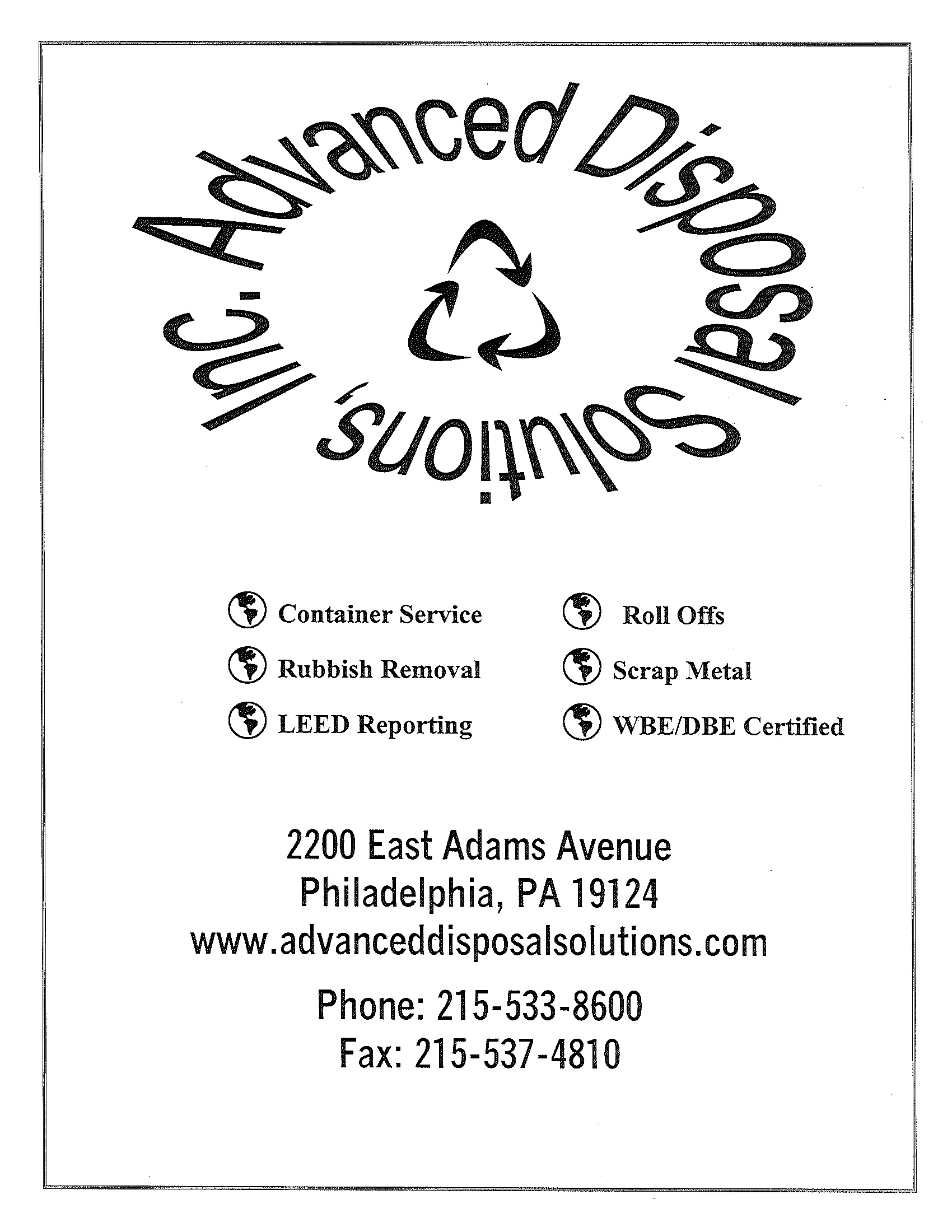 Advanced Disposal Solutions